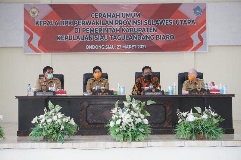 Kunjungi Sitaro BPK Perwakilan Provinsi Sulut Adakan Ceramah Umum