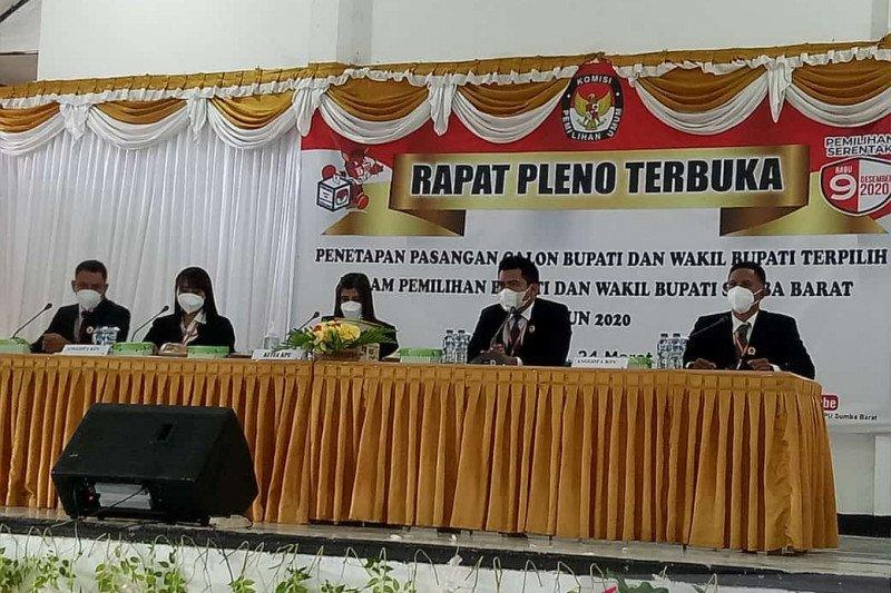 KPU Sumba Barat tetapkan bupati wakil bupati terpilih