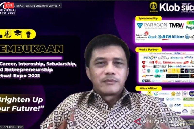 UI gelar pameran dan seminar virtual bursa kerja dan wirausaha 2021