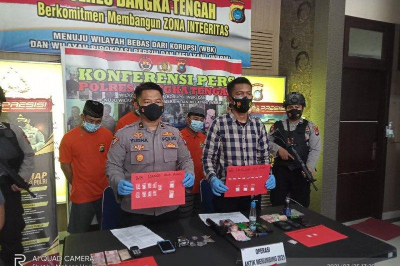Polres Bangka Tengah ungkap jaringan peredaran narkoba di lokasi tambang timah