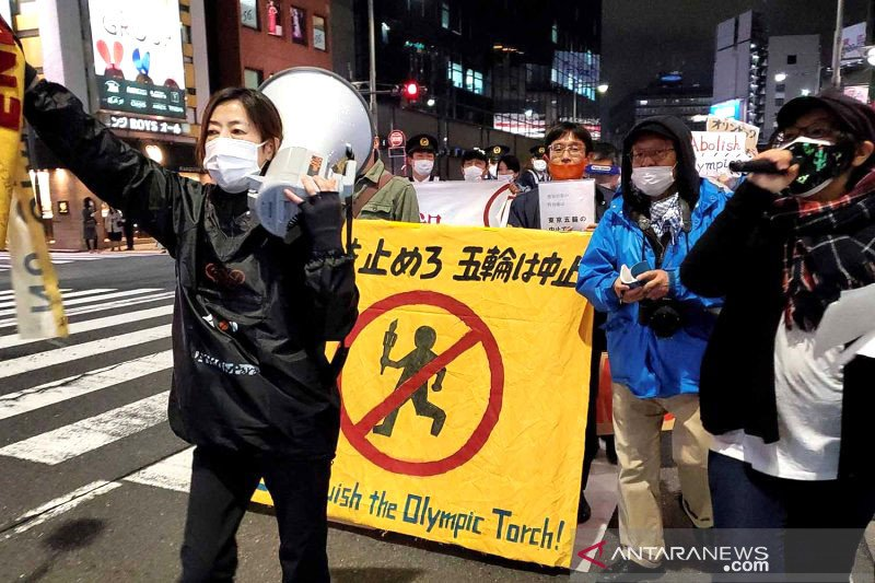 Hampir 200.000 orang di Jepang kampanye daring anti Olimpiade