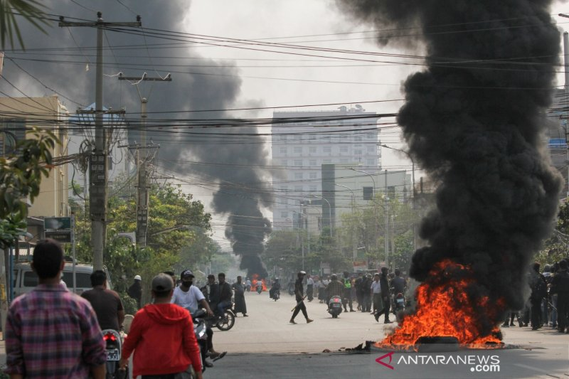 Lebih dari 500 korban tewas dalam unjuk rasa Myanmar
