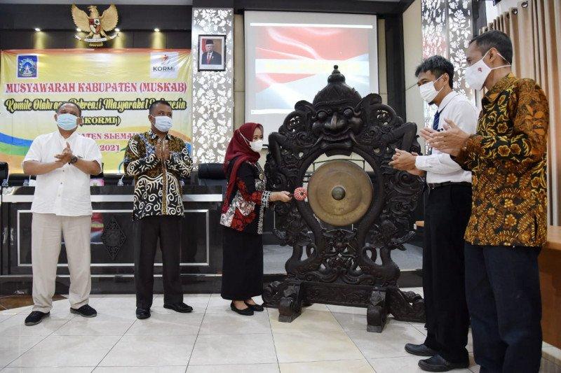 Bupati membuka Muskab Komite Olahraga Rekreasi Masyarakat Indonesia Sleman