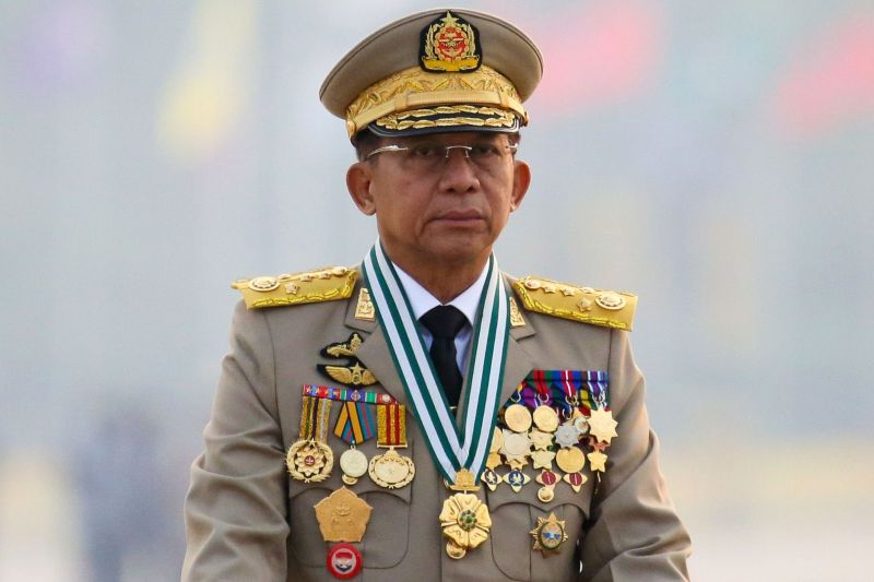 Pimpinan junta Myanmar akan menghadiri KTT ASEAN di Jakarta
