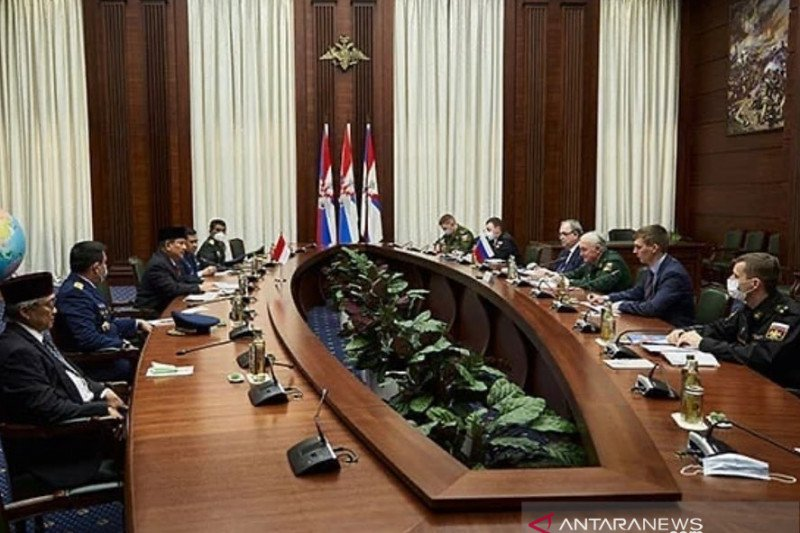 Menhan Prabowo bertemu Deputi  Menhan Federasi Rusia