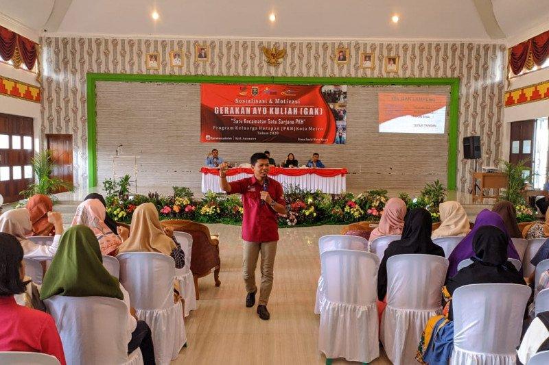 Sejak 2017, sebanyak 396 anak penerima PKH Lampung lanjutkan kuliah