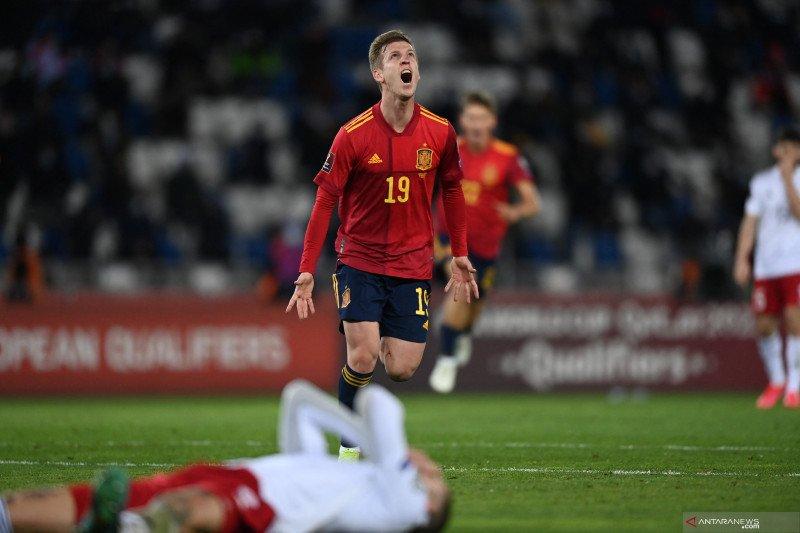Bangkit dari tertinggal, Spanyol berhasil menang 2-1 atas Georgia