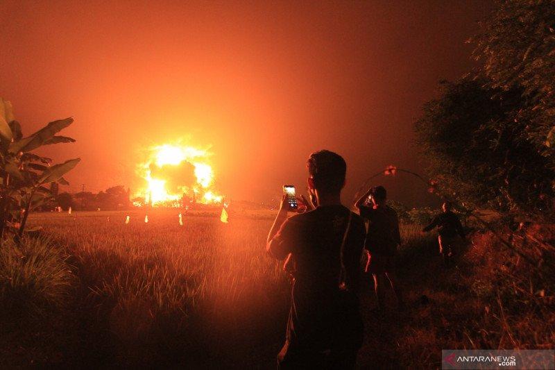 Kapolda jabar: Ada indikasi kebocoran pada tangki yang terbakar di Balongan