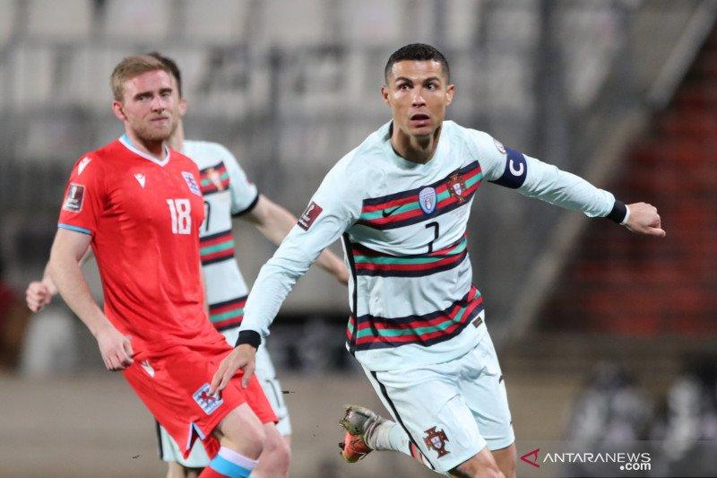 Portugal puncaki Grup A kualifikasi Piala Dunia 2022, kalahkan Luksemburg 3-1
