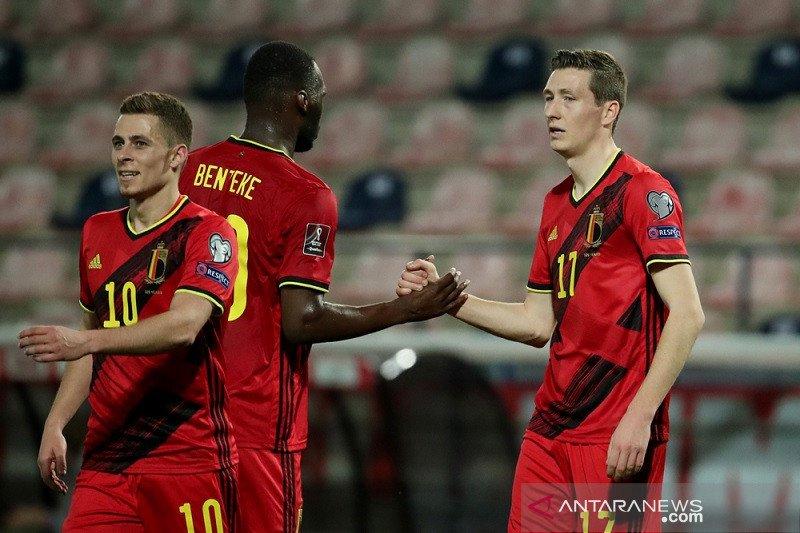 Belgia babat habis Belarusia 8-0, Wales petik kemenangan perdana