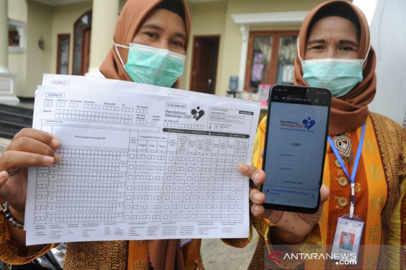 Pendataan Keluarga 2021 di Palembang sasar 416.000 KK ...