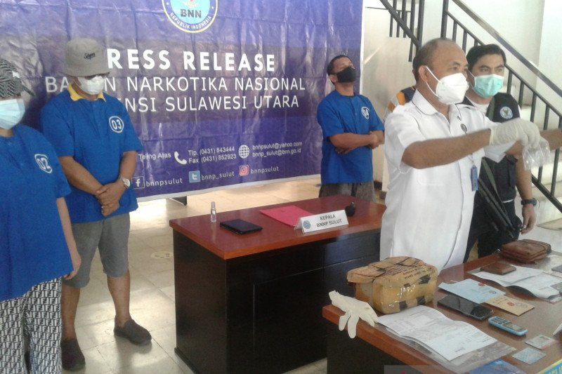 BNN Sulut tangkap tiga tersangka narkoba jaringan Makassar-Manado