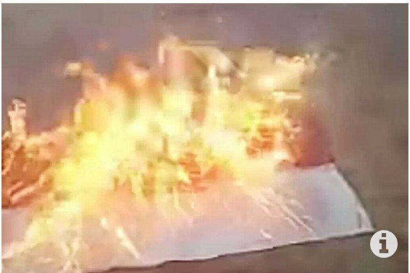 Polisi amankan pelaku pembakaran bendera Merah Putih di Lampung Timur