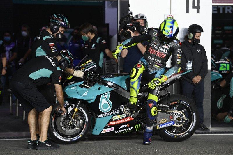 Daya cengkeram ban belakang masih jadi masalah utama Rossi di GP Qatar