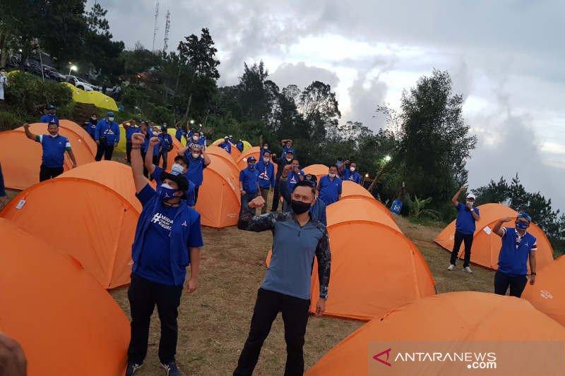 Bermalam di lereng Gunung Ungaran, AHY konsolidasi dengan Demokrat Jateng