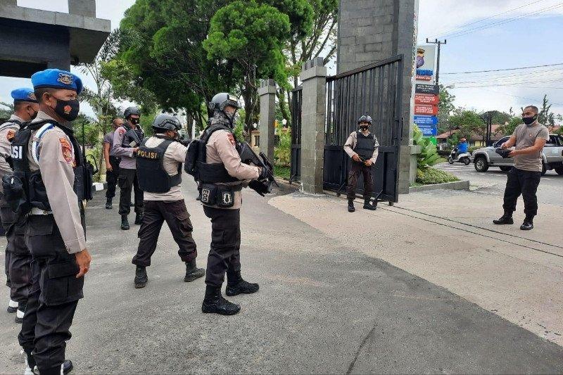 Brimob Polda Kalteng latihan penanganan OTK antisipasi teroris