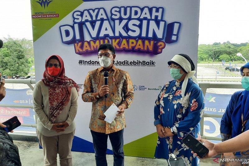 Menkominfo apresiasi pelaksanaan Vaksin Indonesia Bangkit di RSUI