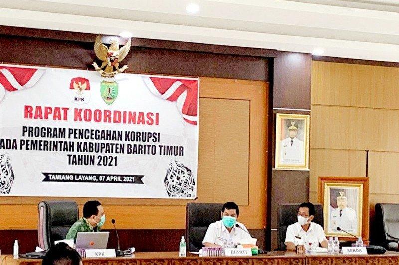 Pemkab Bartim-KPK susun strategi pencegahan korupsi