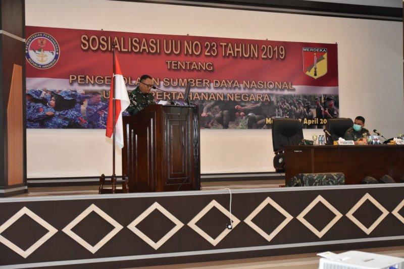 Kodam XIII/Merdeka Sosialisasi Pembentukan Komponen Cadangan