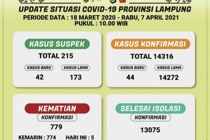 Kasus positif COVID-19 Lampung bertambah 44