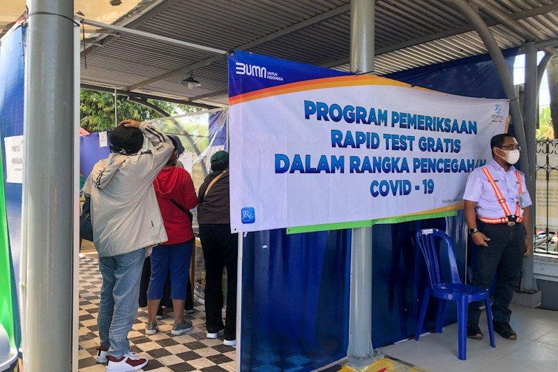 KAI: Tarif rapid test antigen di stasiun turun menjadi Rp85.000