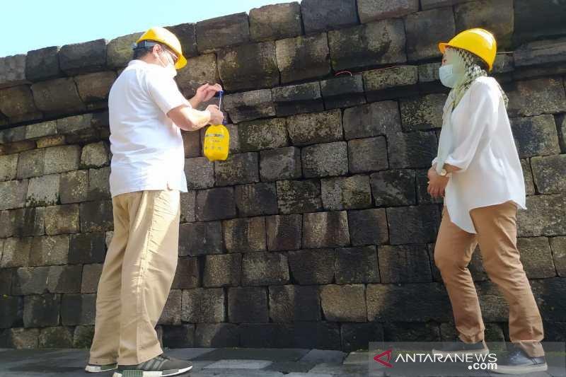 Minyak atsiri resmi sebagai bahan konservasi batuan Candi Borobudur