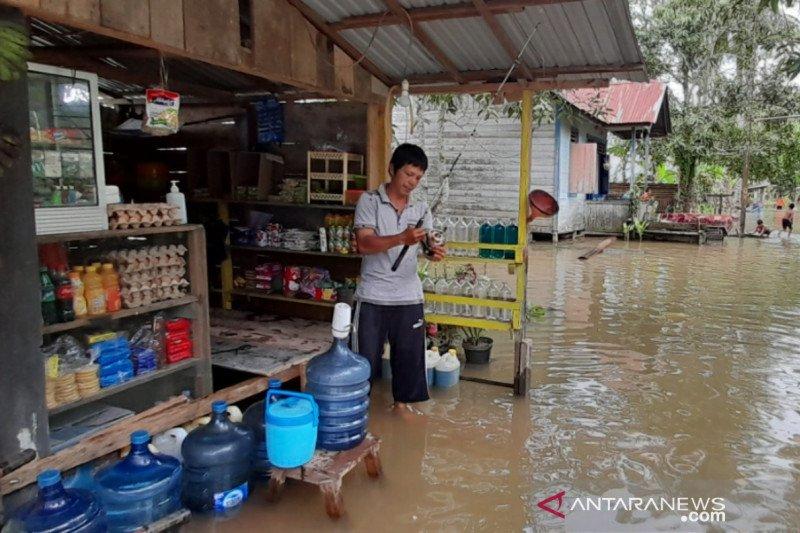 Beberapa lokasi di Tanjung Selor mulai tergenang banjir