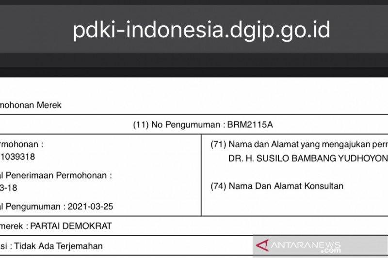 Kemenkumham kemungkinan tolak pengajuan merek Partai Demokrat hak SBY