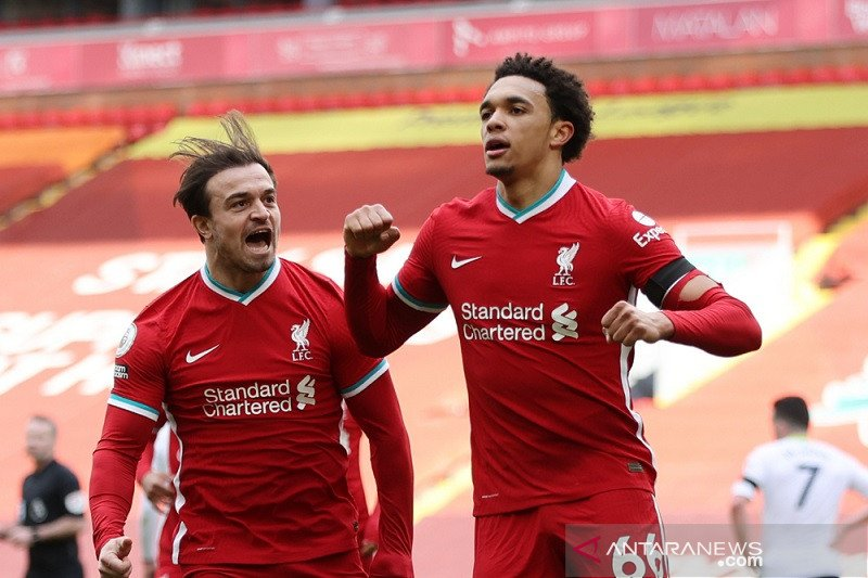 Liverpool akhirnya menang di Anfield, tundukkan Villa 2-1