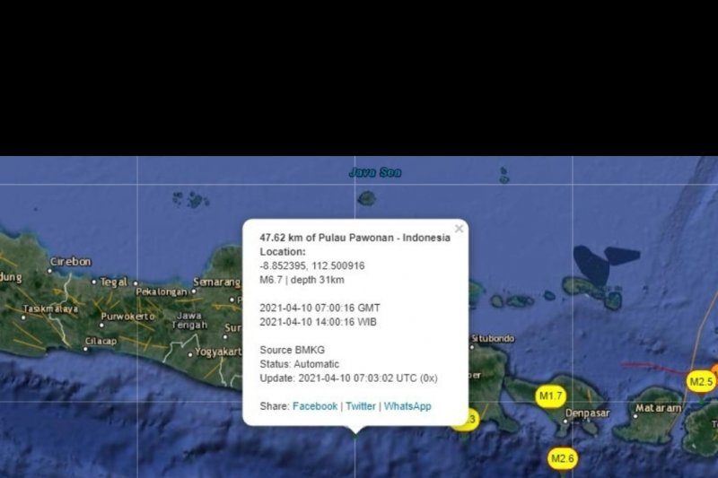 BMKG sebut gempa di Kabupaten Malang sebabkan kerusakan rumah warga