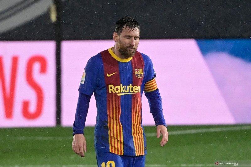 Barcelona kalah 2-1, Lionel Messi prustasi alami puasa gol terlama di El Clasico
