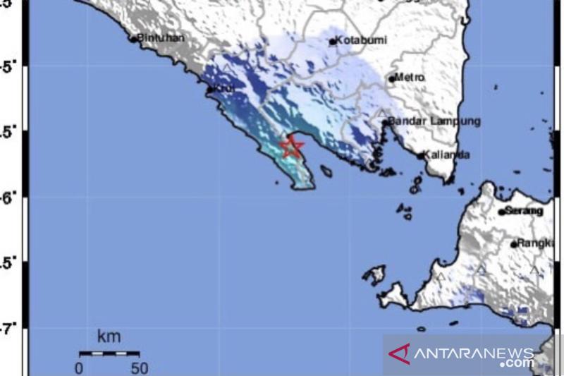 Gempa Lampung akibat subduksi dan tak berpotensi tsunami