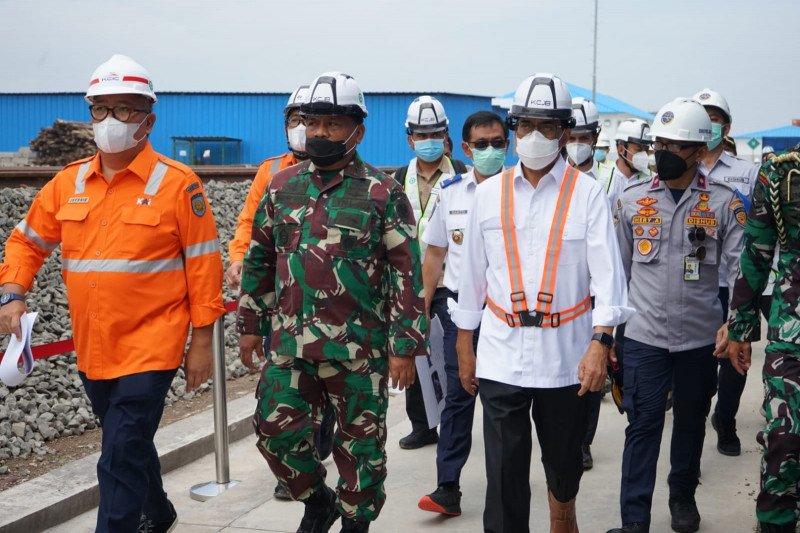 Menkomarves dan Menhub tinjau proyek Kereta Cepat Jakarta-Bandung