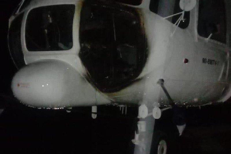 Polres Puncak lakukan olah TKP pembakaran helikopter di Ilaga