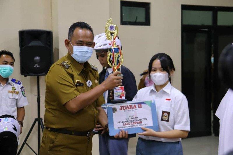 Enam pelajar di Pringsewu raih juara pelopor keselamatan berlalu lintas