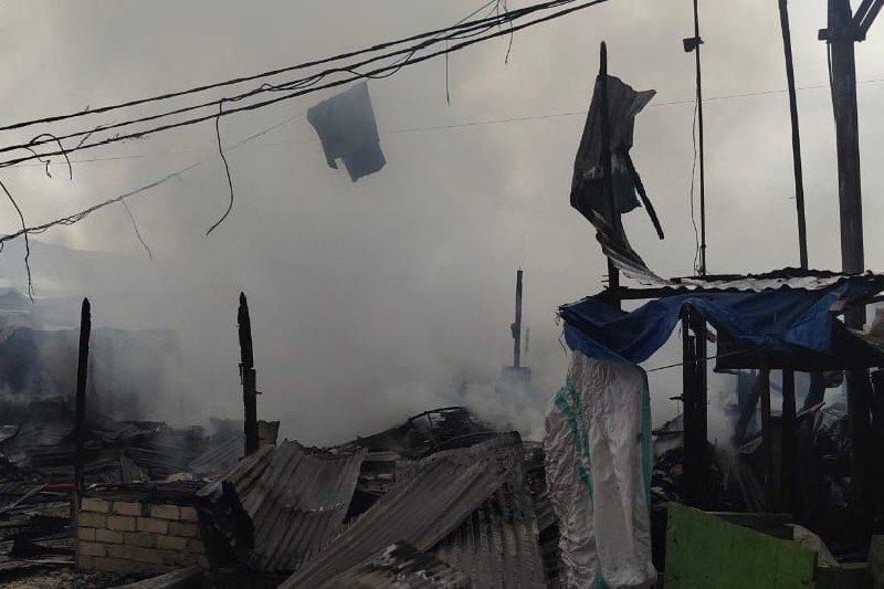 22 los pasar Youtefa Abepura ludes terbakar