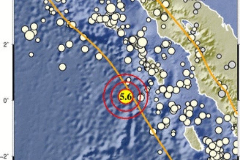 Kabupaten Nias Barat diguncang gempa magnitudo 5,5