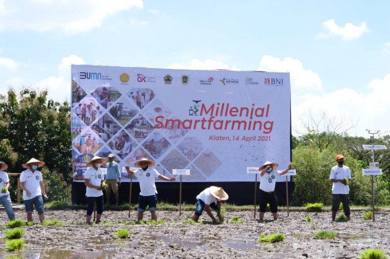 """BNI melakukan program """"milenial smartfarming"""" di Klaten"""
