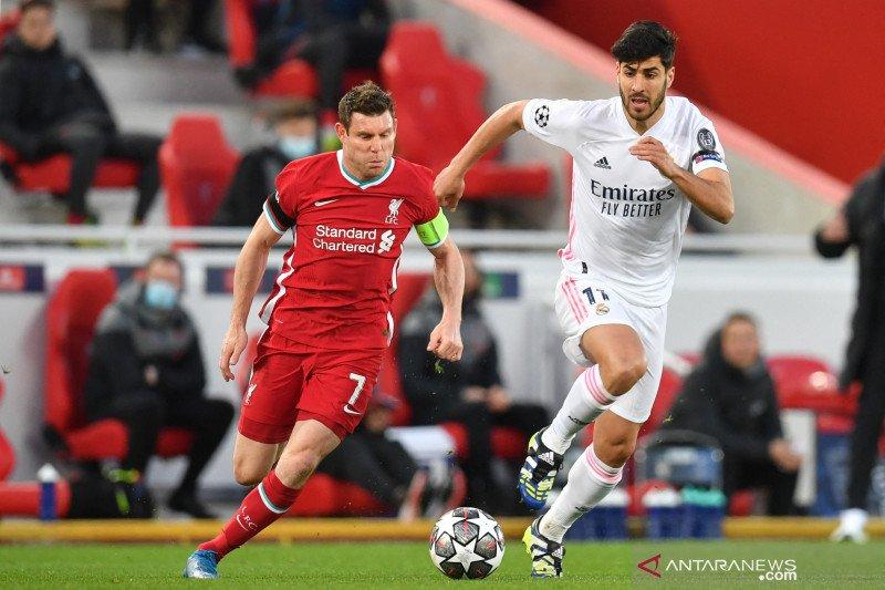 James Milner sebut Liverpool lebih baik dari Real Madrid di leg kedua