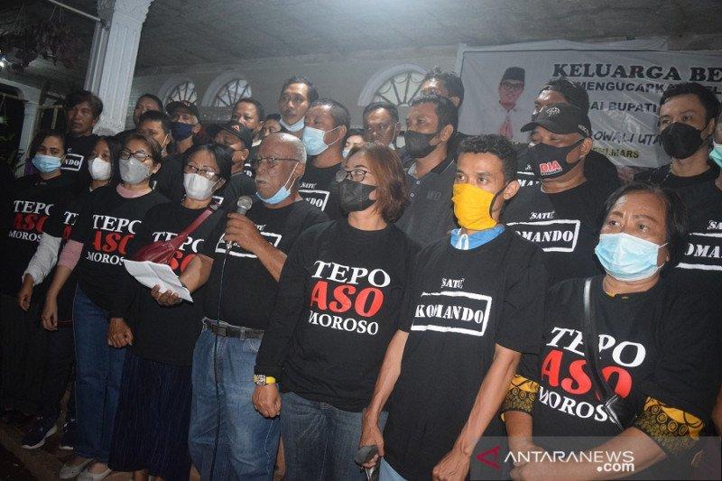 Relawan Satu Komando Morut deklarasikan PSU damai dan lawan kecurangan