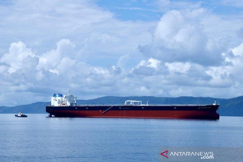Kapal tanker raksasa pengangkut minyak Pertamina Pride tiba di Indonesia