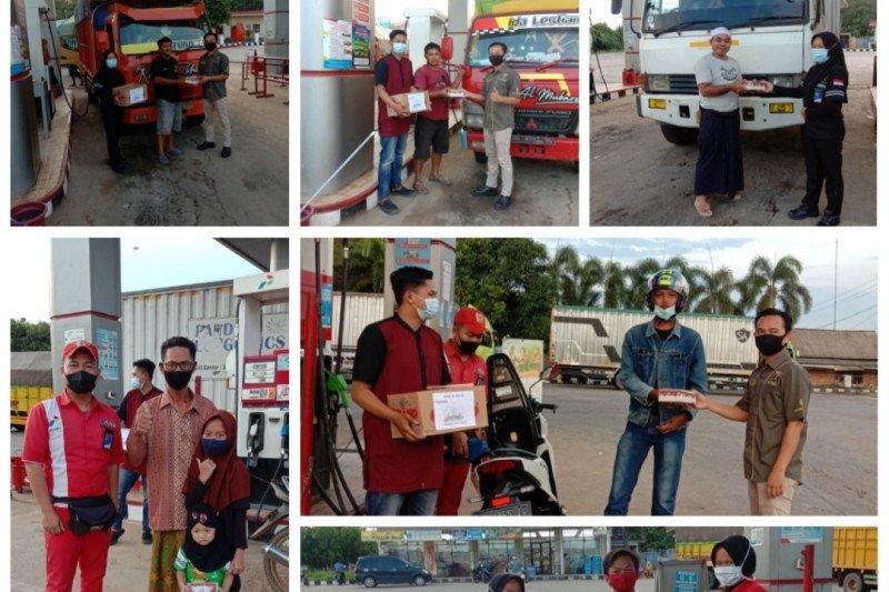 SPBU di Kabupaten Mesuji bagikan takjil gratis