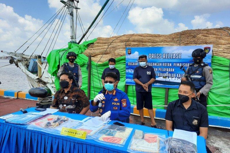 Polairud Kalbar gagalkan 100 ton rotan diselundupkan ke Malaysia