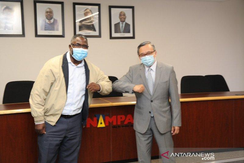 KBRI Windhoek menjembatani kerja sama kantor berita Indonesia dan Namibia