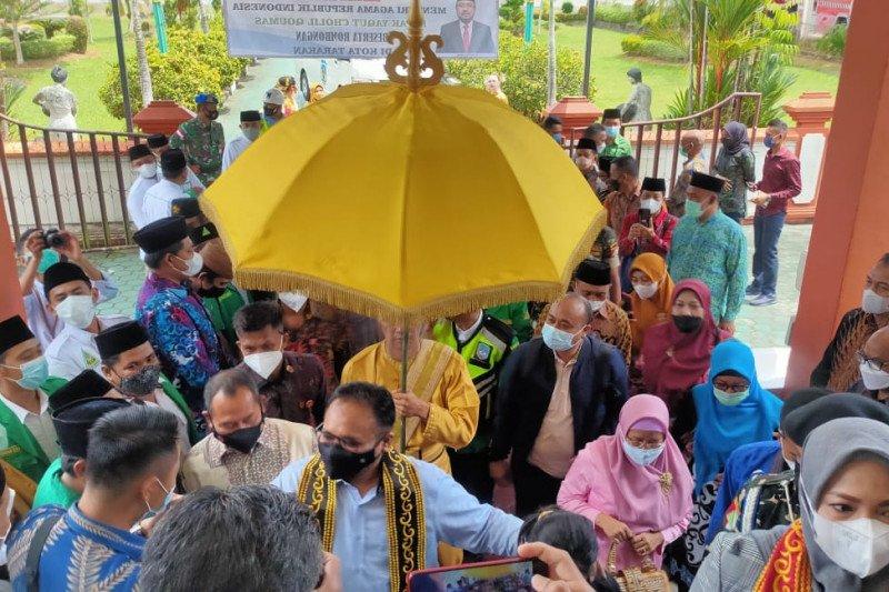Kapolda Kaltara Jemput Menag Yaqut Cholil Qoumas di Tarakan