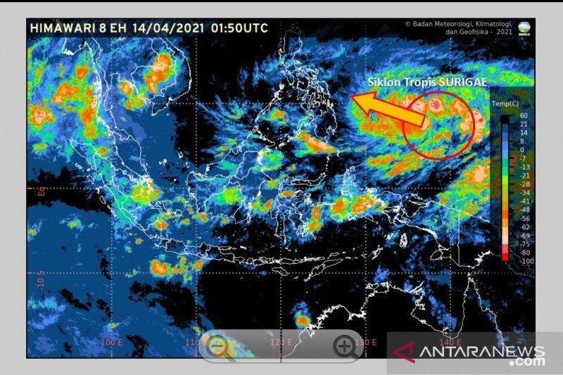 BMKG: Siklon tropis Surigae melemah 24 jam kedepan