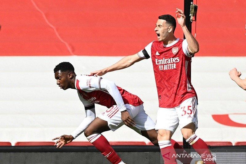 Gol Nketiah selamatkan Arsenal dari kekalahan lawan Fulham