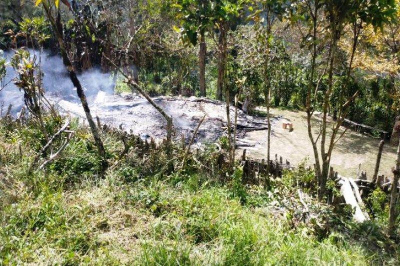 KKB Beoga bakar honai dan  tiga rumah guru