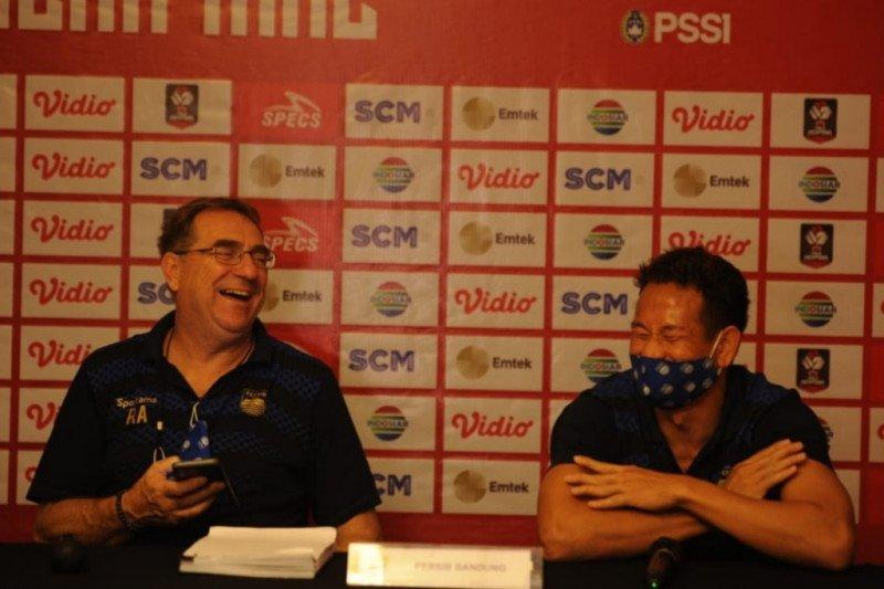 Unggul leg pertama, Persib Bandung pertahankan permainan menyerang lawan PSS Sleman