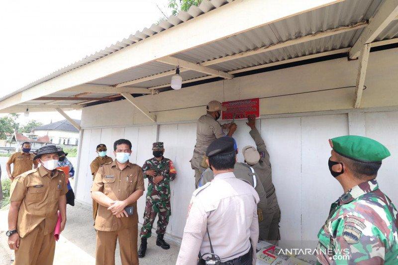 Lima bangunan ditertibkan Tim penertiban bangunan Dinas PUPR Payakumbuh, karena ini